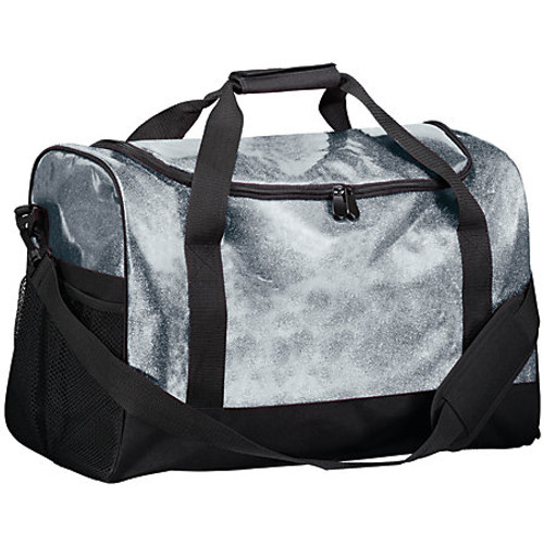 Silver Personalized Glitter Duffle Bag