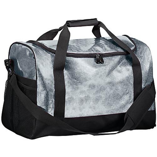Silver Personalized Glitter Duffle Bag