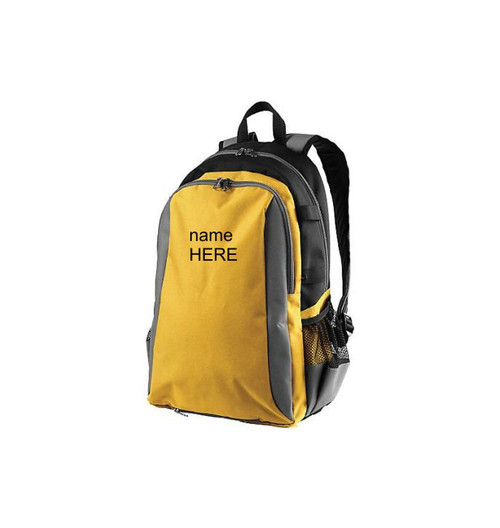 Gold Colored Best Sports Backpack Personalized