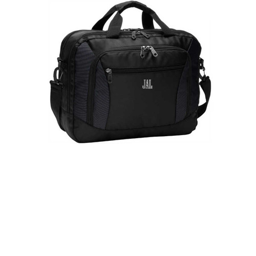 Monogrammed Laptop Bag, Monogrammed  Commuter Breif Case,