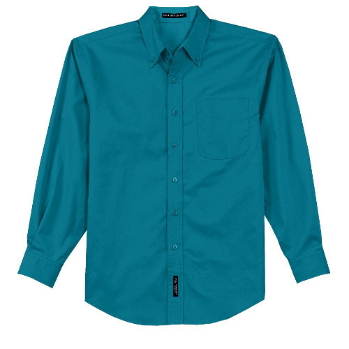 Teal Button Down Monogrammed Shirt for Bridesmaids