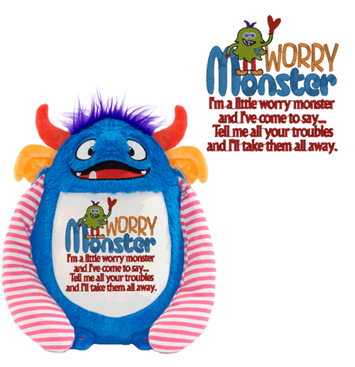 Worry Monster Stuffed Plush for Children dealing with stress