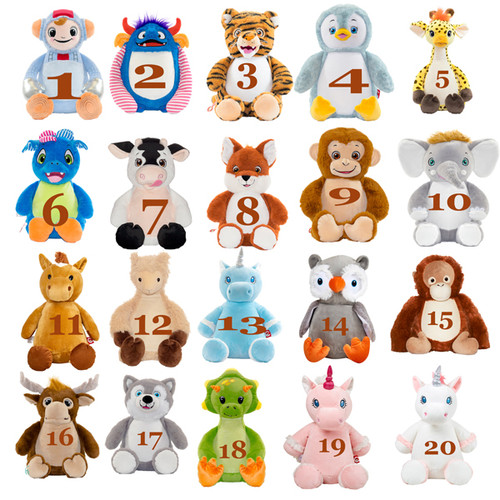 Personalized Plush stuffed animal with a religious theme . embroidered plush  for first communion or confirmations