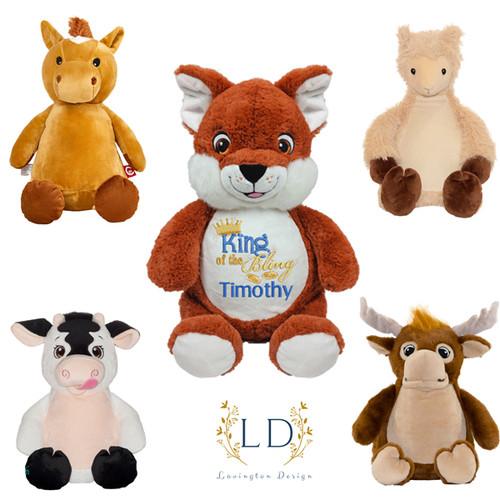 Custom stuffed animals for wedding party flower girl or ring bearer