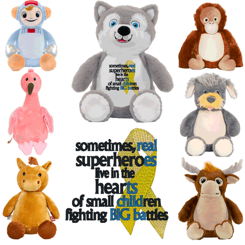 Custom Stuffed Animals for kids with Cancer