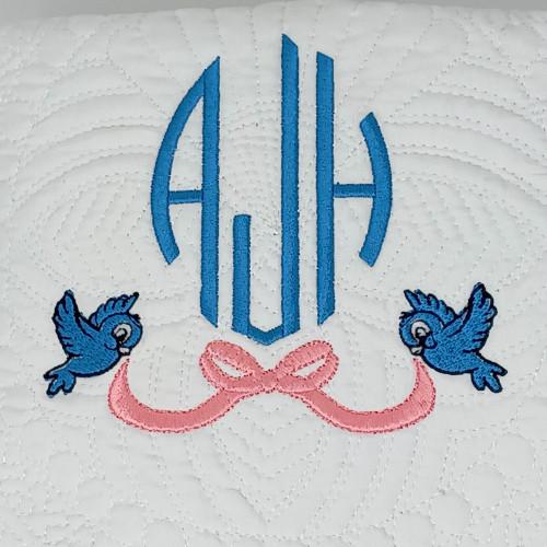 Monogrammed Baby Quilt with Cinderella Theme