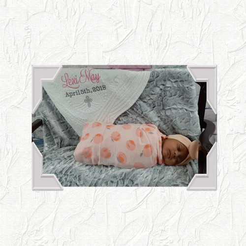Personalized  Baby Quilt Baptism