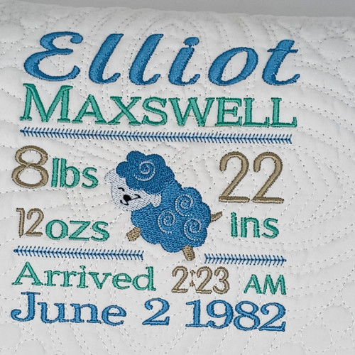 Personalized Baby Quilt  with Lamb  Embroidered Baby Quilt