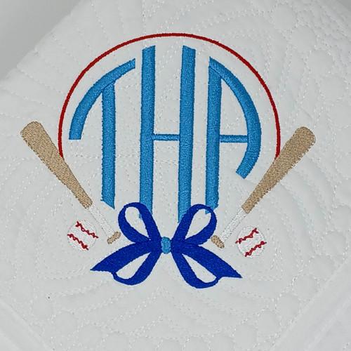 Monogrammed Baseball quilt