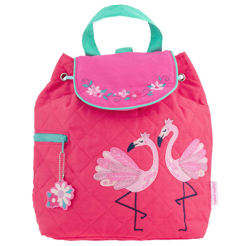 Flamingo Quilted Backpack  Personalized Bu Stephen Joseph