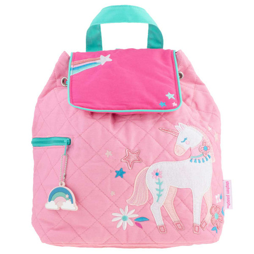Personalized Unicorn quilted backpack  by Stephen Joseph best backpack for girl online by Stephen Joseph