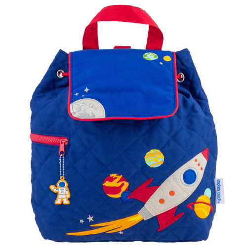 Personalized Space theme quilted Backpack by Stephen Joseph