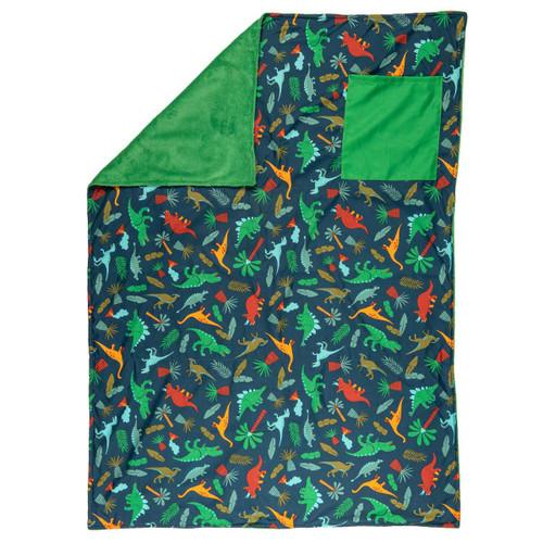 Personalized Toddler Blanket with Dinosaurs by Stephen Joseph