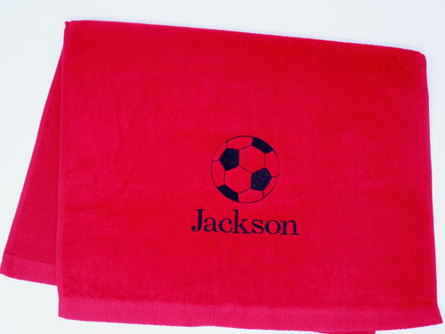 Soccer Towel Personalized with your name