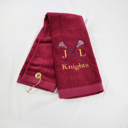 Lacrosse Personalized sports towels