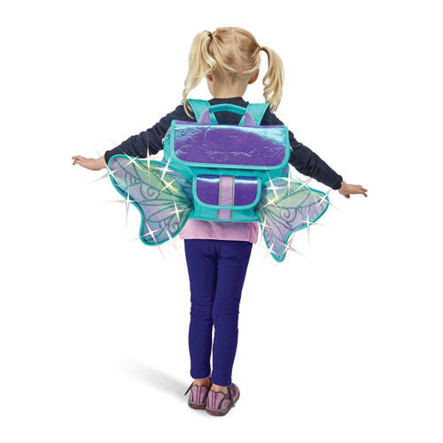 Girls Backpack  LED lights and Butterfly wings by bixbee