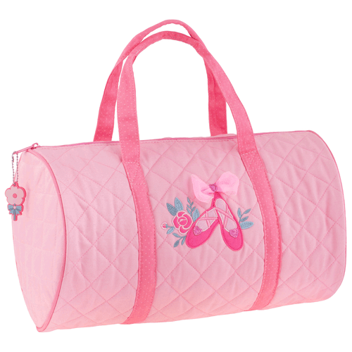 Little Girls Ballet  Quilted Duffle Bag by Stephen Joseph In pink and its the perfect size for little girls