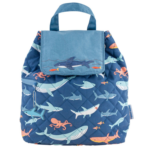 All over printed SHARK quilted backpack by Stephen Joseph prefect toddler  backpack or Baby bag