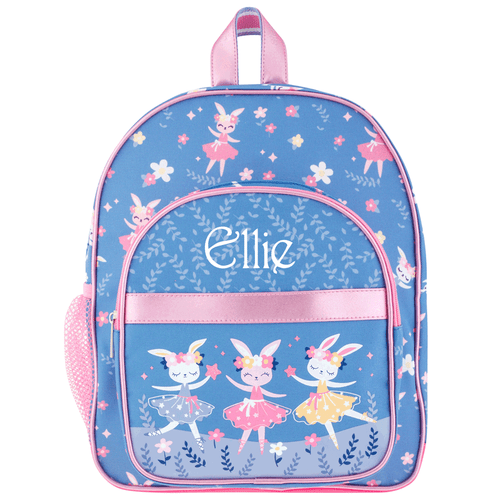 Classic toddler backpack by Stephen Joseph with bunnies ballet dancing