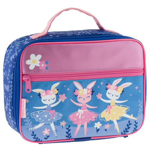 Classic Bunny Lunch Box with bunny , Insulated  lunch bag with ballerina bunnies by Stephen Joseph