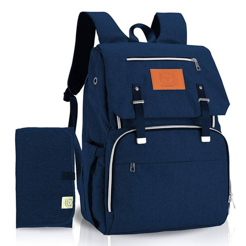 Navy Diaper Bag, Monogrammed, Backpack style Diaper Bag unisex
