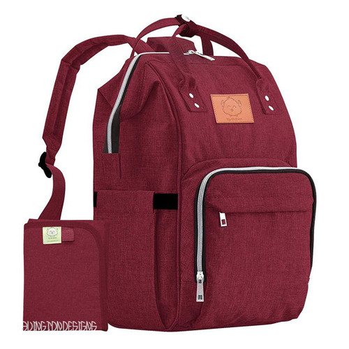 Wine Colored Backpack Diaper Bag  offering Monogramming