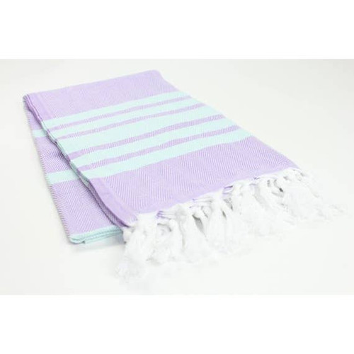 Turkish Beach Towel in Mint and Lavender with the option to Personalize