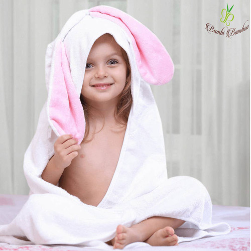 Toddler Bath Towel- Hooded Toddle/ Baby Bath towel with Bunny ears