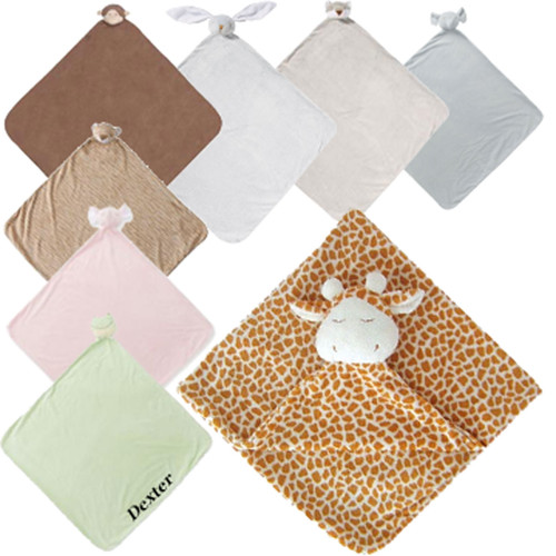 Angel Dear blanket monogrammed this cute blanket with a animal head is perfect nap blanket for toddler