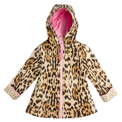 Girl's Leopard Print Rain Jacket by Stephen Joseph.