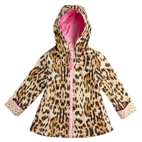 Girl's Leopard Print Rain Jacket by Stephen Joseph.