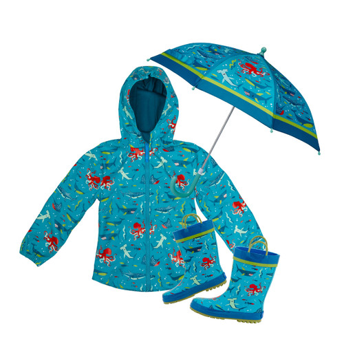 Deep-Sea Stephen Joseph Raincoat set