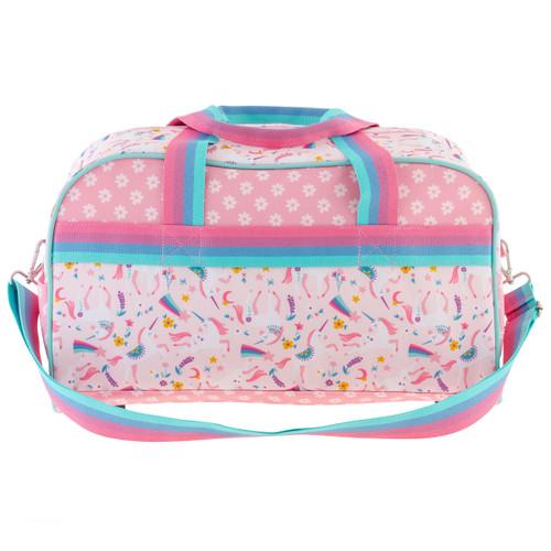 Monogrammed Duffle Bags for kids  by Stephen Joseph, Pink Unicorn Design
