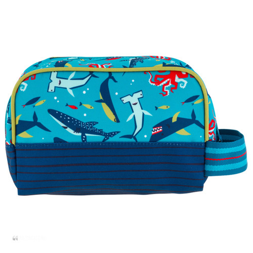 Shark Toiletry for kids personalizing  available by Stephen Joseph