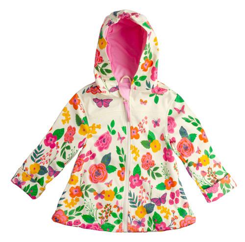 Stephen Joseph Little Girls' Flower Rain Coat