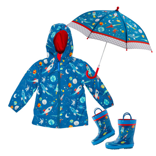 Stephen Joseph Space Print Rain jacket set for Kids