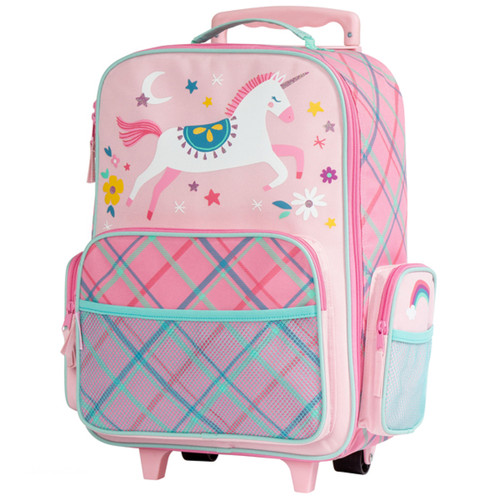Personalized Pink Unicorn Kids Rolling Suitcase by Stephen Joseph