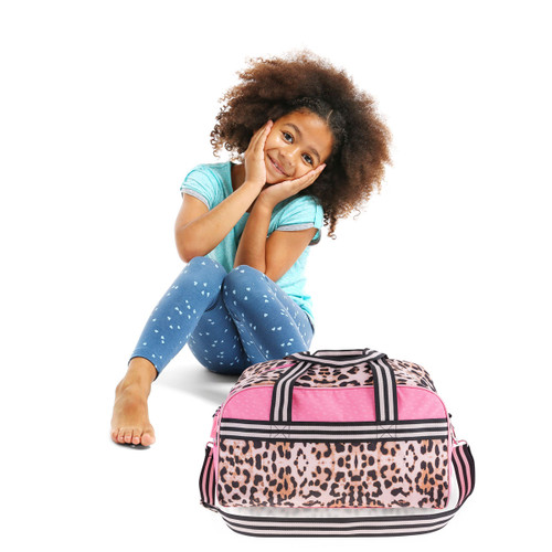 Leopard Print Kids Overnight Bag by Stephen Joseph
