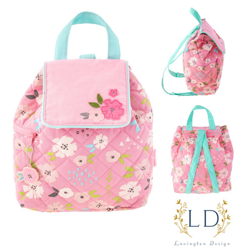 Floral Quilted Toddler Backpack