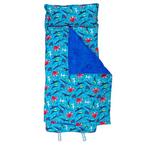 Toddler Nap Mat With Pillow Shark Print