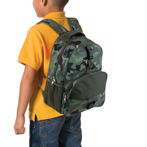 Personalized Kids Camo-Print Backpack by Stephen Joseph.