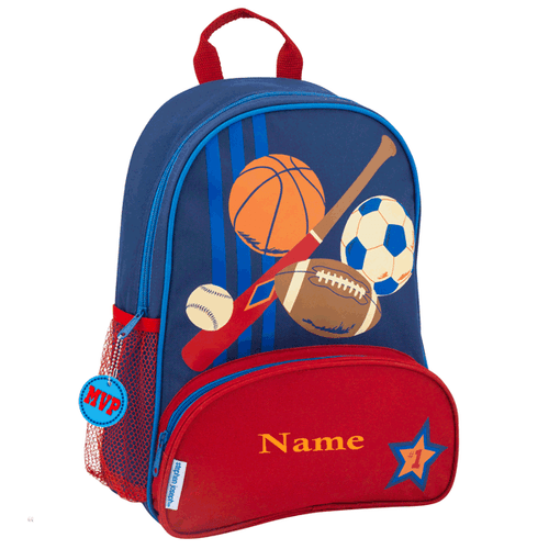 Personalized Toddler backpack sports design by Stephen Joseph