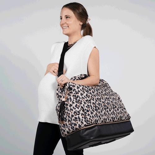 Baby Travel Bag-Leopard Print Hospital and Travel Bag