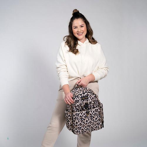 Itzy Ritzy Leopard Print Diaper Bag Puffer Backpack Diaper Bag