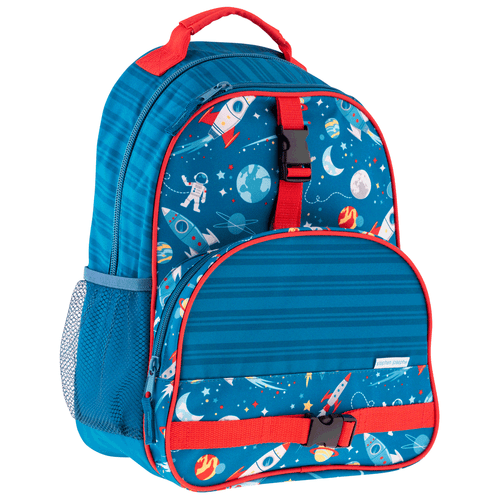 Front view of our Personalized Boy Backpack Space theme Backpack by Stephen Joseph