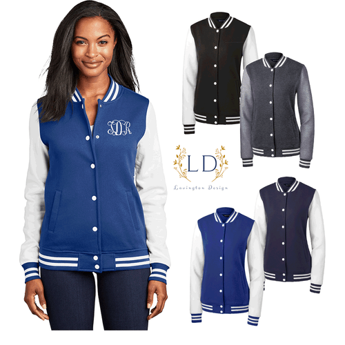 Embroidered Letterman Jackets for Ladies