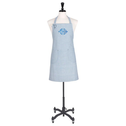Aprons for Cooking monogrammed  in blue
