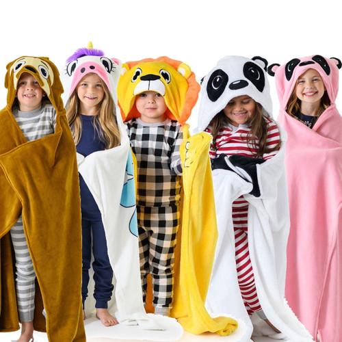 Kids Blankets Personalized - Sloth, Lion, Unicorn Elephant
