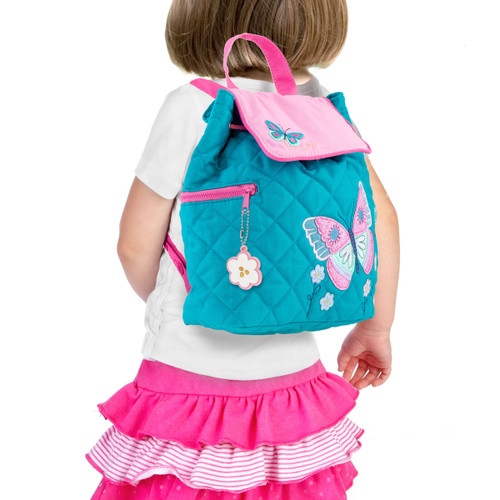 Toddler Butterfly Quilted Backpack life style photo