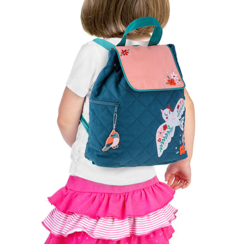 Quilted Backpack Bird